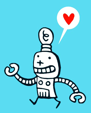 robot                               in love
