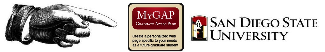My Gap Graduate Aztec Page, create a persoanlized page for you
